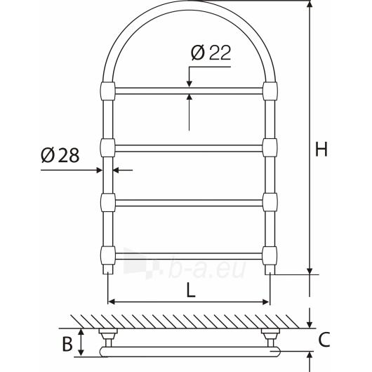 Elonika žalvarinis vandeninis gyvatukas EŽRA 450 su arka Paveikslėlis 2 iš 2 270651000399