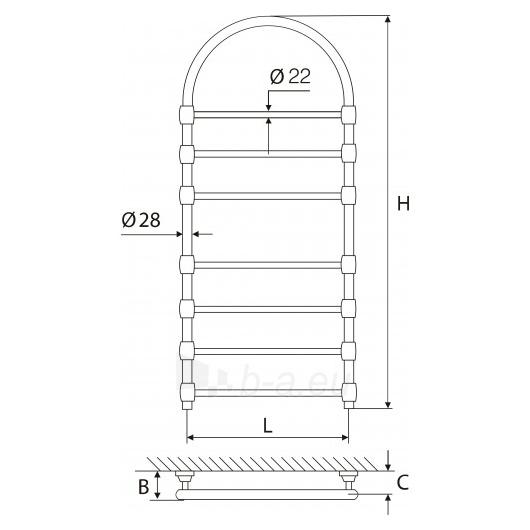 Elonika žalvarinis vandeninis gyvatukas EŽRA 750 su arka Paveikslėlis 1 iš 1 270651000401
