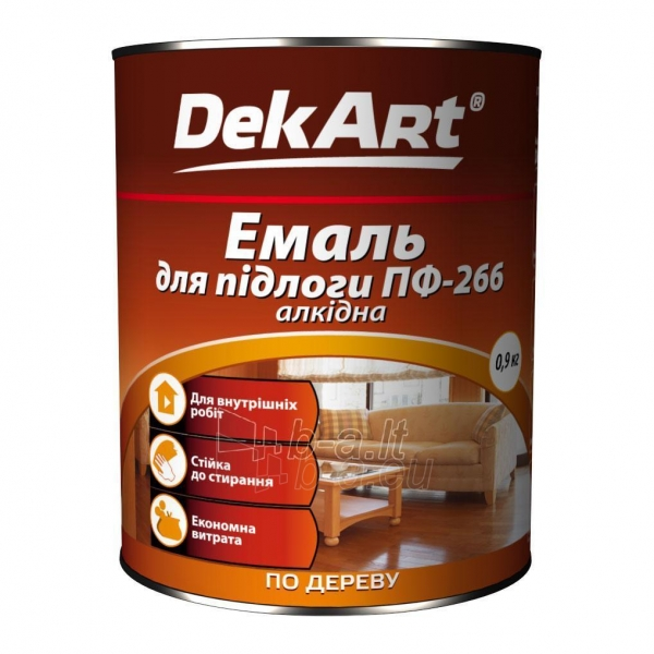 Emalis grindims PF-266 DekART raudonai-rudas 0,9 kg Paveikslėlis 1 iš 1 236550000033