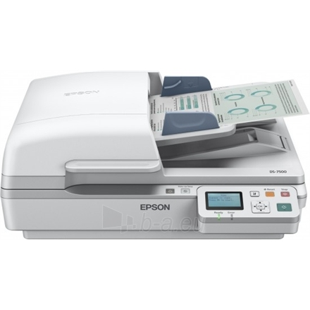 Epson Workforce DS-6500N mobile business scanner / 1200 DPI / Speed: 25/25 / 100 sheets feeder/ A4/ USB 2.0, LAN Paveikslėlis 1 iš 3 250253300125