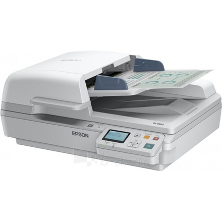 Epson Workforce DS-6500N mobile business scanner / 1200 DPI / Speed: 25/25 / 100 sheets feeder/ A4/ USB 2.0, LAN Paveikslėlis 2 iš 3 250253300125