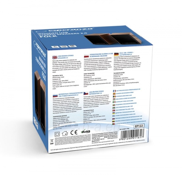 Esperanza EP122 Kolonėlės 2.0 - 2 x 3W - FOLK Paveikslėlis 5 iš 5 250214000785