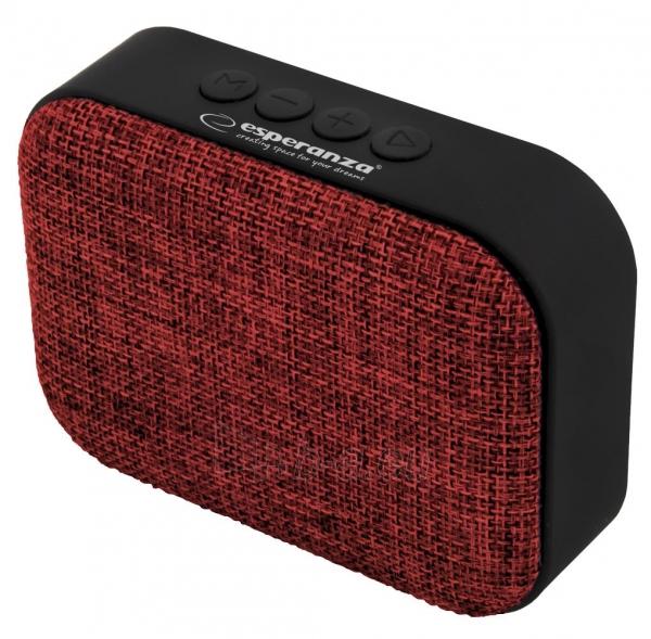 ESPERANZA EP129R SAMBA - Bluetooth kolonėlė su integruotu FM radiju Paveikslėlis 1 iš 4 310820158796