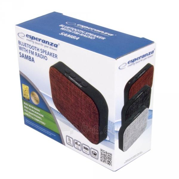 ESPERANZA EP129R SAMBA - Bluetooth kolonėlė su integruotu FM radiju Paveikslėlis 4 iš 4 310820158796