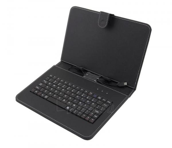 ESPERANZA Klaviatūra +Dėklas 9planš. kompiuteriui |Juodas|Ekologinius odo Paveikslėlis 1 iš 6 310820014350