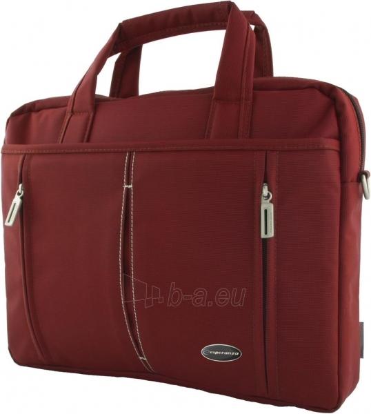 ESPERANZA Nešiojamo kompiuterio krepšys 15,6 ET184R TORINO Raudona Paveikslėlis 1 iš 2 250256202890