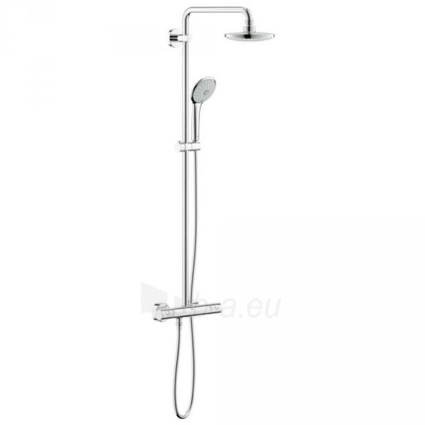 Euphoria dušo-vonios sistema, termostatas, viršutinės galvos diam. 180mm, stovo ilgis 1471 mm, dušo šlangos ilgis 1750 m Paveikslėlis 1 iš 2 310820165727