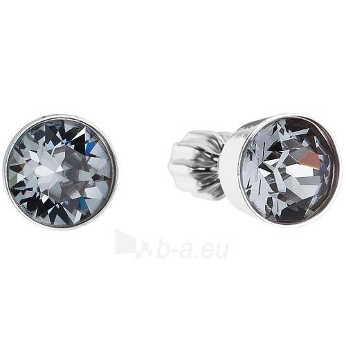 Evolution Group auskarai su kristalais Swarovski 31113.5 silver night Paveikslėlis 1 iš 3 310820026293