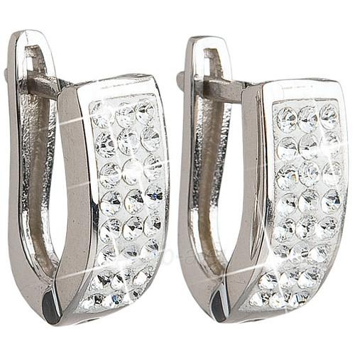 Evolution Group sidabriniai auskarai su kristalais Swarovski 31123.1 krystal Paveikslėlis 1 iš 2 310820026298