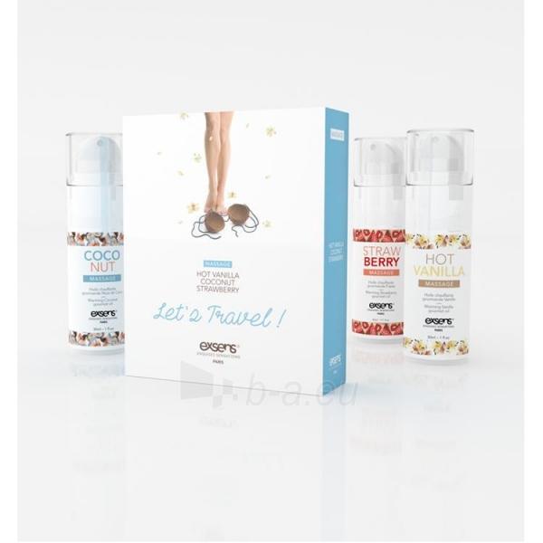 Exsens masažo aliejų rinkinukas Jausminga šiluma (3x30 ml) Paveikslėlis 1 iš 2 2514124000137