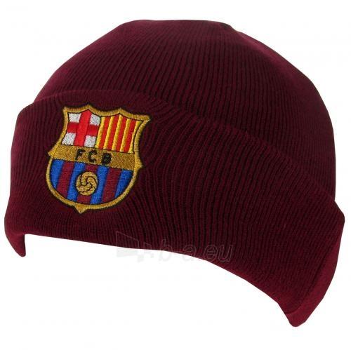 F.C. Barcelona atlenkta žieminė kepurė (Bordo) Paveikslėlis 1 iš 3 251009000398