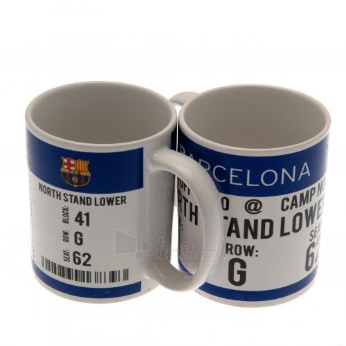 F.C. Barcelona puodelis (Baltas su logotipu) Paveikslėlis 2 iš 6 251009001119