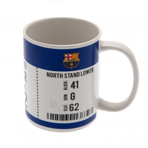 F.C. Barcelona puodelis (Baltas su logotipu) Paveikslėlis 3 iš 6 251009001119
