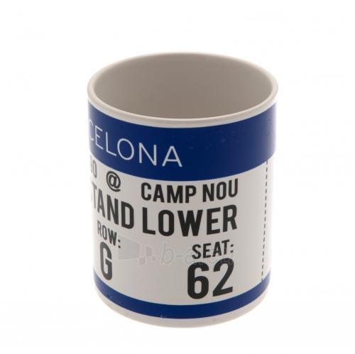 F.C. Barcelona puodelis (Baltas su logotipu) Paveikslėlis 4 iš 6 251009001119