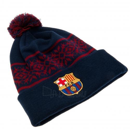 F.C. Barcelona žieminė kepurė su bumbulu Paveikslėlis 2 iš 3 251009000491
