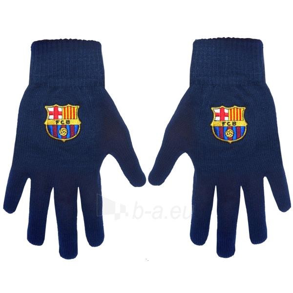 F.C. Barcelona žieminės pirštinės (Juodos) Paveikslėlis 2 iš 2 251009000492