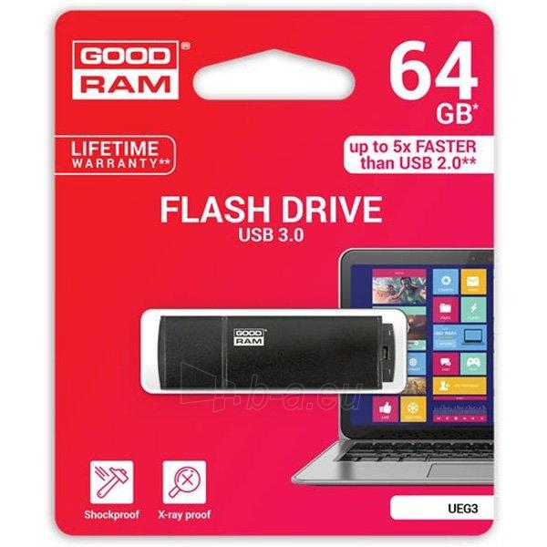 Flash atmintinė GOODRAM 8GB UEG3 BLACK USB 3.0 Paveikslėlis 1 iš 1 310820018463