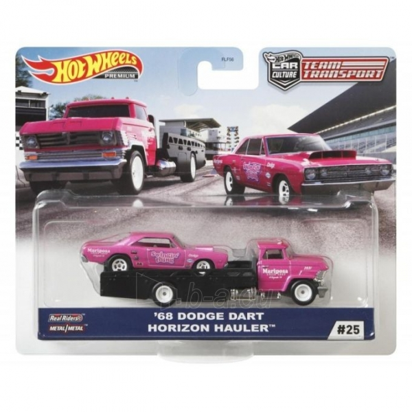 FLF56 / GJT39 Mattel Hot Wheels Car Culture Team Transport 68 Dodge Dart Horizon Hauler Paveikslėlis 1 iš 1 310820252901