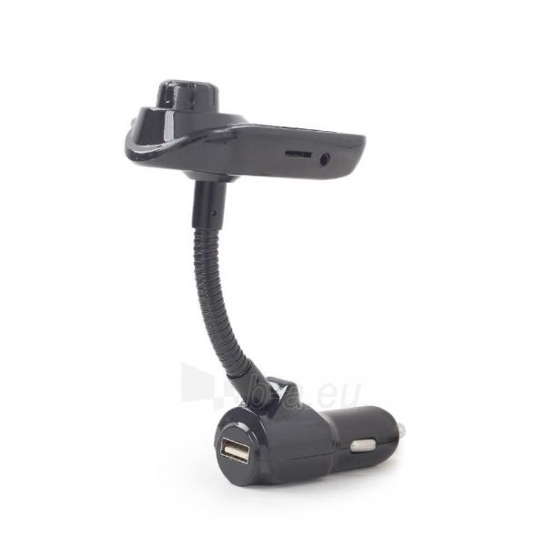 FM-radijo transmiteris Gembird Bluetooth carkit with , black Paveikslėlis 3 iš 4 310820167129