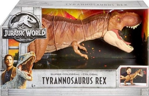 FMM63 Mattel Jurassic World Super Colossal Tyrannosaurus Rex Paveikslėlis 3 iš 6 310820252905