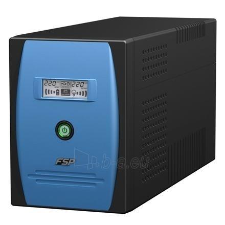 Fortron FSP Line Interactive UPS EP-1500/ 1500VA, 900W/ AVR/ LCD/ USB Port + Cable/ RJ11 port/ RS232 Port + Cable/ 3 IEC Paveikslėlis 1 iš 1 250254300381