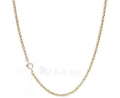 Fossil Tenký pozlacený náhrdelník JF01884710 Paveikslėlis 1 iš 1 310820041485