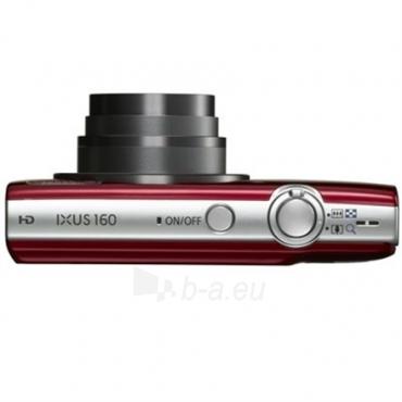 Fotoaparatas Canon Digital IXUS 160 Red Paveikslėlis 3 iš 4 250222021693