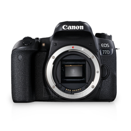 "Fotoaparatas Canon EOS 77D SLR Camera Body, Megapixel 24.2 MP, Image stabilizer, ISO 25600, Display diagonal 3.0 "", Wi-Fi, Video recording, TTL, CMOS, Black Paveikslėlis 1 iš 3 310820158444"