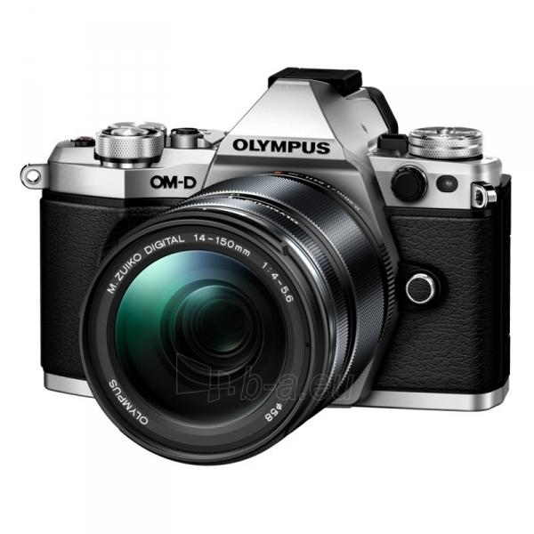 Fotoaparatas E-M5 MarkII 14-150 Silver/Black Paveikslėlis 1 iš 4 310820217367