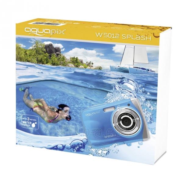 Fotoaparatas Easypix AquaPix W5012-I Splash iceblue 10087 Paveikslėlis 2 iš 10 310820215818
