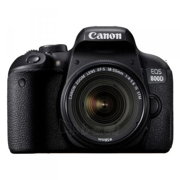 Fotoaparatas EOS 800D+18-55 IS STM Paveikslėlis 1 iš 5 310820163524