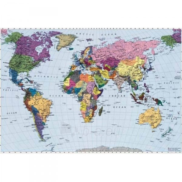 Fototapetas Komar 4-050 World Map Klein Paveikslėlis 1 iš 1 30110100116