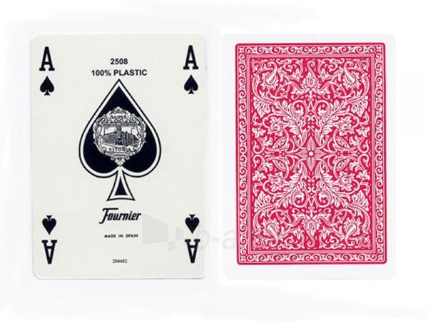 Fournier 2508 pokerio kortos (Raudonos) Paveikslėlis 2 iš 3 251010000196