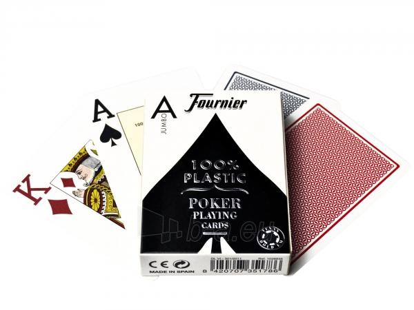 Fournier 2800 pokerio kortos (Mėlynos) Paveikslėlis 1 iš 2 251010000197