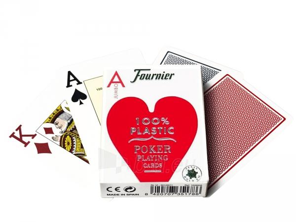 Fournier 2800 pokerio kortos (Raudonos) Paveikslėlis 1 iš 2 251010000198