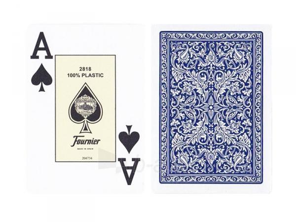 Fournier 2818 pokerio kortos (Mėlynos) Paveikslėlis 2 iš 3 251010000199