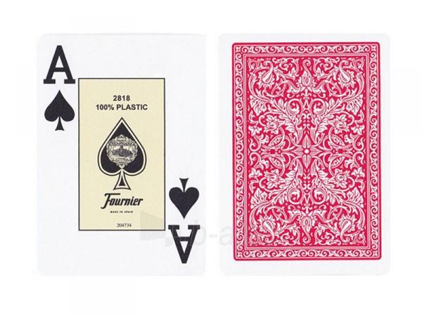 Fournier 2818 pokerio kortos (Raudonos) Paveikslėlis 2 iš 3 251010000200