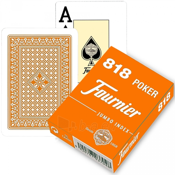 Fournier 818 pokerio kortos (Orandžinė) Paveikslėlis 1 iš 3 310820103888