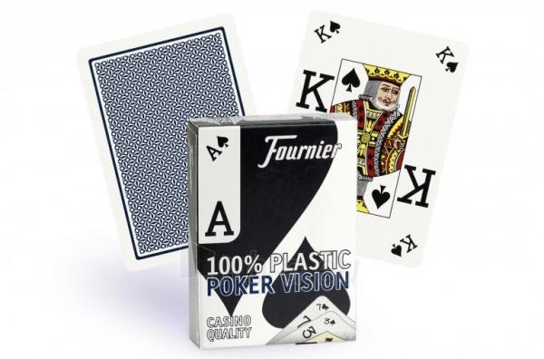 Fournier Poker Vision pokerio kortos (Mėlynos) Paveikslėlis 1 iš 4 251010000201