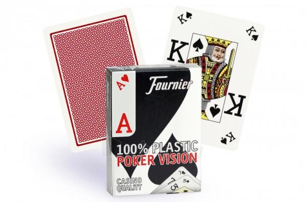 Fournier Poker Vision pokerio kortos (Raudonos) Paveikslėlis 1 iš 3 251010000272
