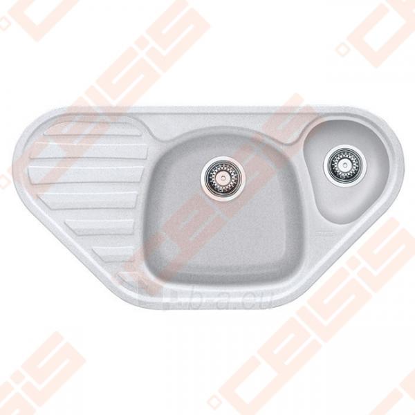 Fragranit plautuvė FRANKE Calypso COG651-E su ekscentriniu ventiliu, baltos spalvos Paveikslėlis 1 iš 2 270712000639