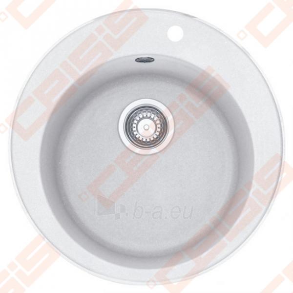 Fragranit plautuvė FRANKE Ronda ROG610-41 su ekscentriniu ventiliu, baltos spalvos Paveikslėlis 1 iš 2 270712000678