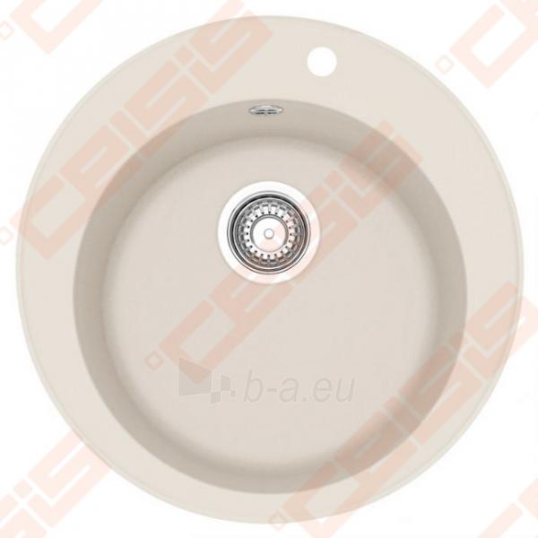 Fragranit plautuvė FRANKE Ronda ROG610-41 su ekscentriniu ventiliu, magnolia spalvos Paveikslėlis 1 iš 2 270712000681