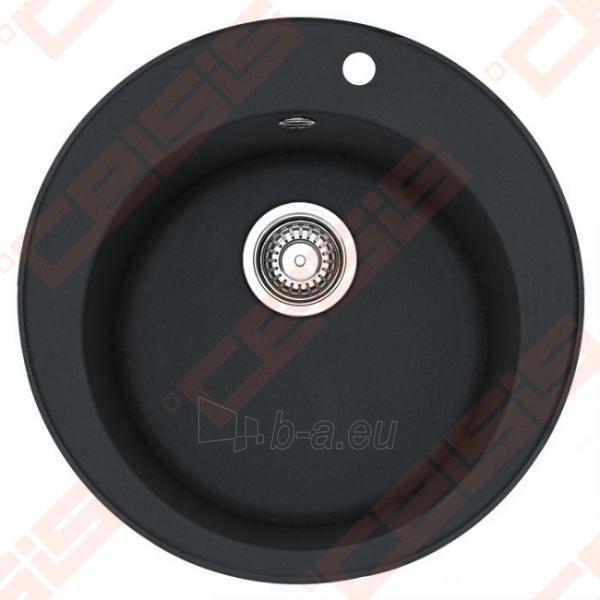 Fragranit plautuvė FRANKE Ronda ROG610-41 su užkemšamu ventiliu, juodos spalvos Paveikslėlis 1 iš 2 270712000684