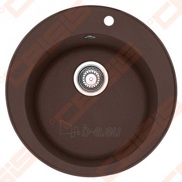 Fragranit plautuvė FRANKE Ronda ROG610-41 su užkemšamu ventiliu, šokolado spalvos Paveikslėlis 1 iš 2 270712000687
