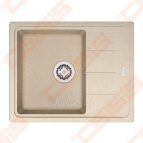 Fragranit universali pagal įstatymo puses plautuvė FRANKE Basis BFG611-62 su ventiliu, biežinės spalvos Paveikslėlis 1 iš 1 270712000711