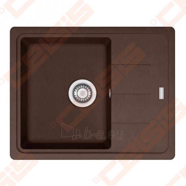 Fragranit universali pagal įstatymo puses plautuvė FRANKE Basis BFG611-62 su ventiliu,šokolado spalvos Paveikslėlis 1 iš 1 270712000718