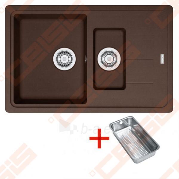 Fragranit universali pagal įstatymo puses plautuvė FRANKE Basis BFG651-78 su ventiliu ir indu, šokolado spalvos Paveikslėlis 1 iš 2 270712000736