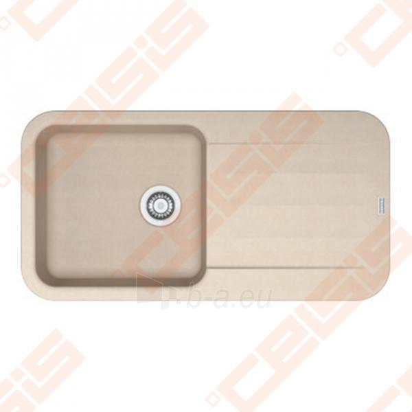 Fragranit universali pagal įstatymo puses plautuvė FRANKE Pebel PBG611-97 su ekscentriniu ventiliu ir indu, biežinės spalvos Paveikslėlis 1 iš 2 270712000746