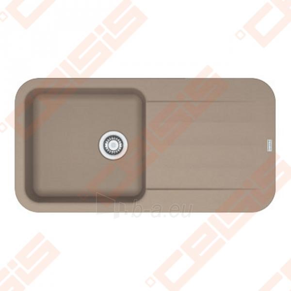 Fragranit universali pagal įstatymo puses plautuvė FRANKE Pebel PBG611-97 su ekscentriniu ventiliu ir indu, kašmyro spalvos Paveikslėlis 1 iš 2 270712000749